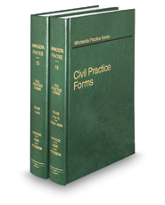 Civil Practice Forms, 2d (Vols. 15 & 16, Minnesota Practice Series)