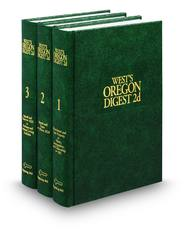 West's® Oregon Digest, 2d (Key Number Digest®)