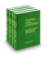 Business and Nonprofit Organizations (Vols. 6 Pt. I, 6 Pt. II, 6 Pt. III, 6 Pt. IV, 6A,  6B, 6C, and 6D Uniform Laws Annotated)