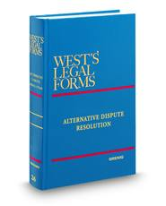 Alternative Dispute Resolution (Vols. 26-26A, West's Legal Forms)
