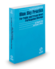 Blue Sky Practice For Public and Private Direct Participation Offerings, 2018-2019 ed. (Securities Law Handbook Series)