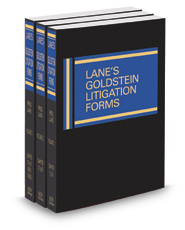Lane's Goldstein Litigation Forms, 2017-2018 ed.