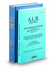 American Law Reports 1st Blue Book (ALR® Series)