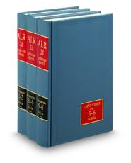 American Law Reports, 2d, Later Case Service (ALR® Series)