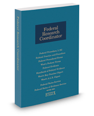 Federal Research Coordinator, 2017 ed.