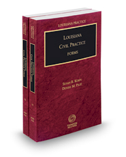 Louisiana Civil Practice Forms, 2016 ed. (Louisiana Practice Series)