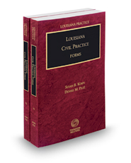Louisiana Civil Practice Forms, 2017 ed. (Louisiana Practice Series)