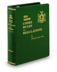 New York Codes, Rules and Regulations (NYCRR)