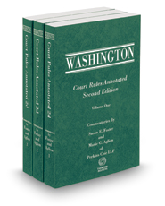 Washington Court Rules Annotated, 2d, 2016-2017 ed.