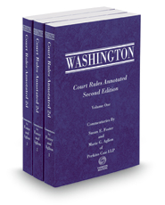 Washington Court Rules Annotated, 2d, 2017-2018 ed.