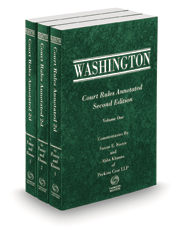 Washington Court Rules Annotated, 2d, 2021 ed.