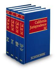 California Jurisprudence, 3d