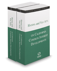 Hanna and Van Atta on California Common Interest Developments, 2020 ed. (The Expert Series)
