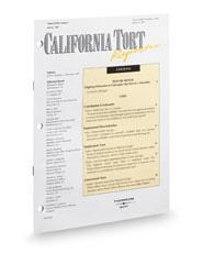 California Tort Reporter