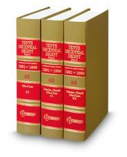 Tenth Decennial Digest®, Part II (Key Number Digest®)
