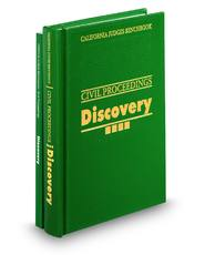 California Judges Benchbook: Civil Proceedings – Discovery, 2d