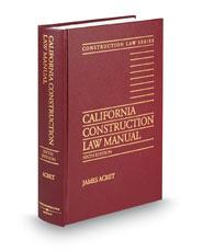 California Construction Law Manual, 6th
