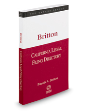 California Legal Filing Directory, Spring 2018 ed. (The Expert Series)