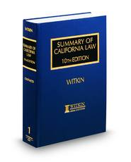 Summary of California Law, 10th (Witkin Library)