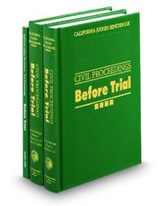 California Judges Benchbook: Civil Proceedings—Before Trial, 2d