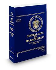 General Laws of Massachusetts Unannotated Official Volumes