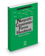 Nonprofit Corporation Forms Handbook, 2018 ed.