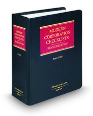 Modern Corporation Checklists, Revised ed.