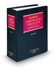 Modern Corporation Checklists, Revised ed.