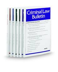 Criminal Law Bulletin