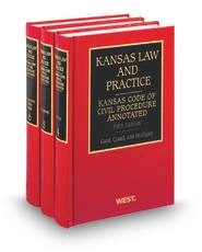 Kansas Code of Civil Procedure, 5th Annotated (Vols. 4-6, Kansas Law and Practice)