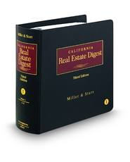 Miller & Starr California Real Estate Digest, 3d
