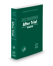 California Judges Benchbook: Civil Proceedings—After Trial, 2020 ed.