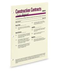 Construction Contracts Law Report