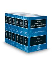 West's® Arizona Revised Statutes, 2018 compact ed.