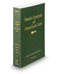 West's® Analysis of American Law, 2016 ed.