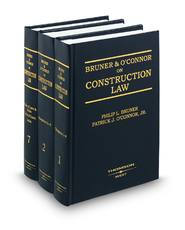 Bruner & O'Connor on Construction Law
