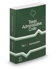 Administration, 2017 ed. (Title 1, Texas Administrative Code)