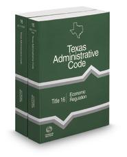 Economic Regulation, 2017 ed. (Title 16, Texas Administrative Code)