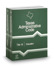 Education, 2017 ed. (Title 19, Texas Administrative Code)