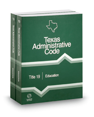 Education, 2018 ed. (Title 19, Texas Administrative Code)