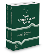 Examining Boards, 2018 ed. (Title 22, Texas Administrative Code)