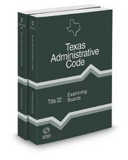 Examining Boards, 2020 ed. (Title 22, Texas Administrative Code)