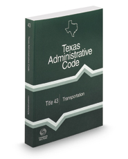 Transportation, 2019 ed. (Title 43, Texas Administrative Code)