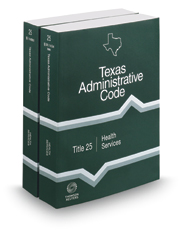 Health Services, 2017 ed. (Title 25, Texas Administrative Code)
