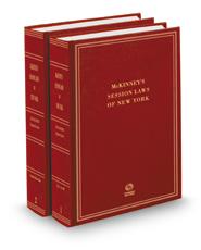McKinney's® New York Session Law Service, 2020 Annual Bound Books