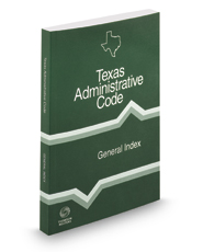 General Index, 2017 ed. (Texas Administrative Code)