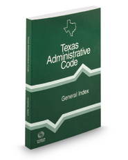 General Index, 2018 ed. (Texas Administrative Code)