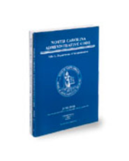 North Carolina Administrative Code Volume 5, Title 10A (Chapters 1 to 13)
