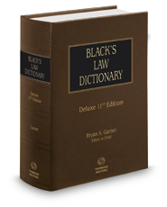 Black's Law Dictionary, Deluxe 11th