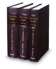 West's® Pacific Digest®, 2d--1941-1962 (Key Number Digest®)